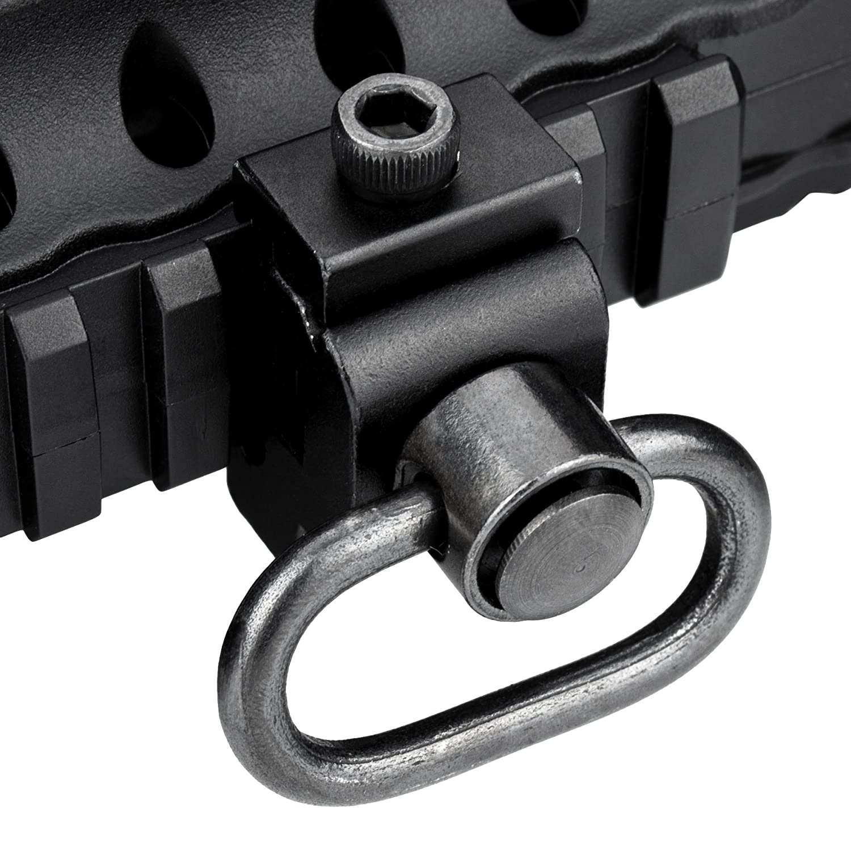 2PCs Sling Swivel Attechment Hook Adapter Strength Locking System 4 Gun Rifle