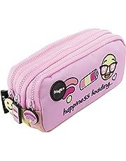 FRINGOO - Trousse à crayons avec 3compartiments jolie et amusante - Pour enfant Large Happiness Loading - 3 Compartments
