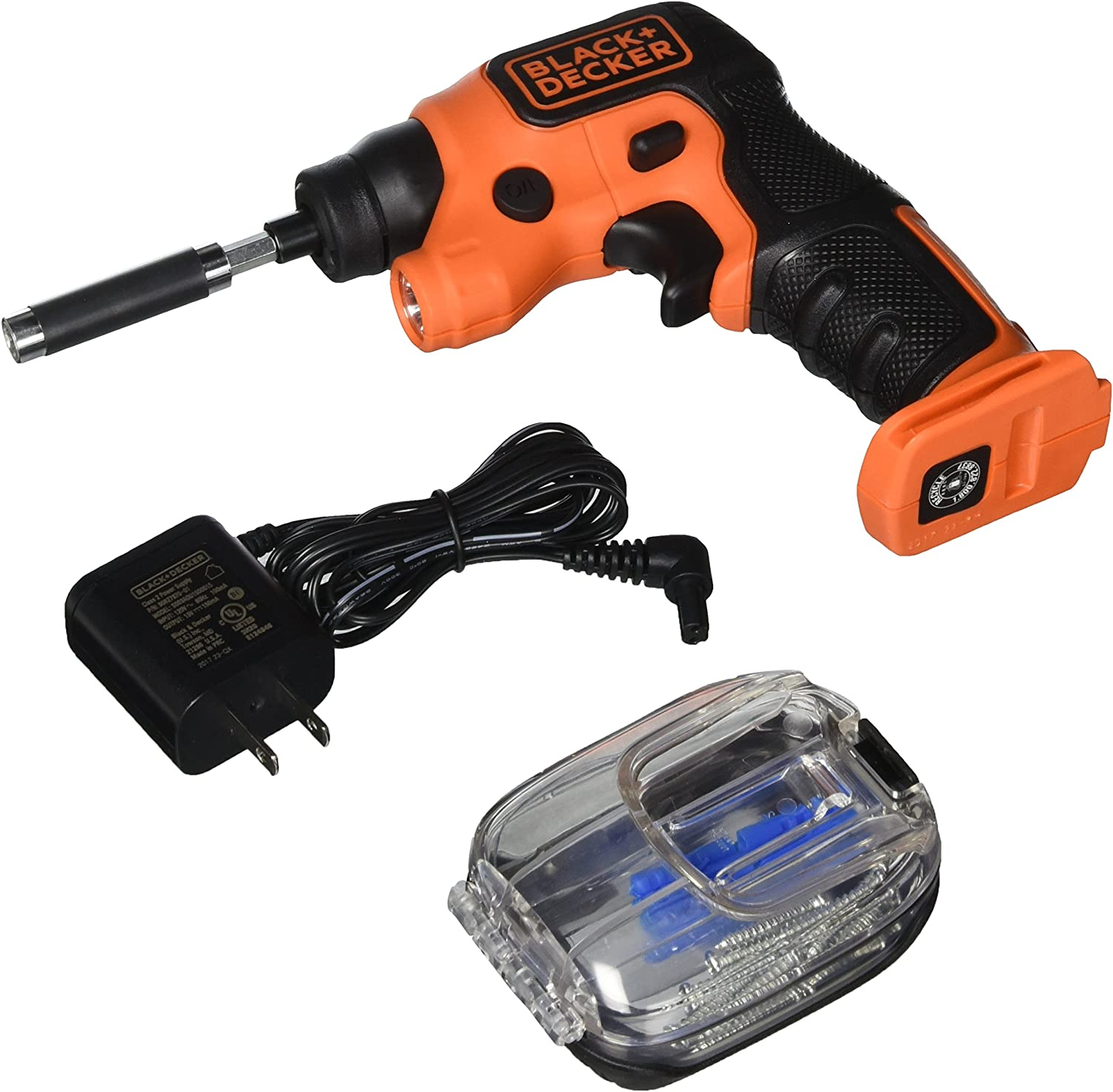 BLACK DECKER 4V MAX Cordless Screwdriver with LED Light BDCSFS30C