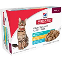 Hill's Science Diet Adult Tender Dinners Variety Pack, Canned Cat Food, 5.5 oz, 12 Pack