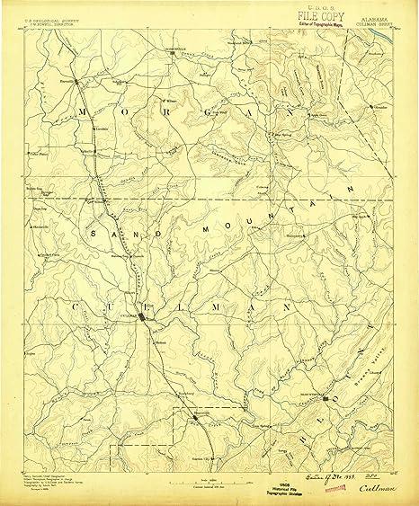 Amazon.com : YellowMaps Cullman AL topo map, 1:125000 Scale ...