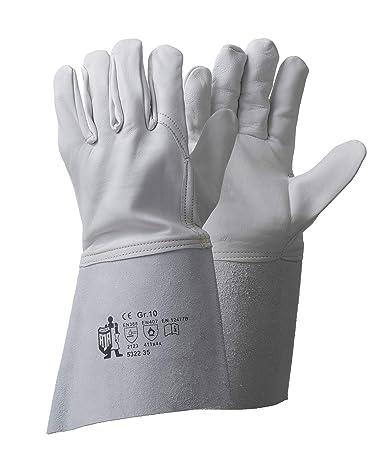Schweißerhandschuhe a Nappaleder 35 cm 12 Paar WIG CE Größe:9 ARGON