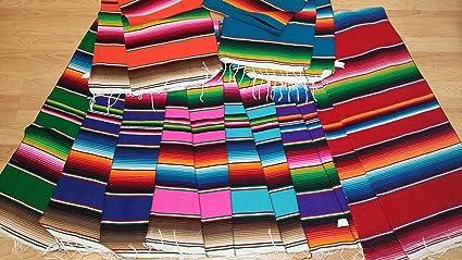 Charmant Mexican Table Runner Large 72u0026quot;x14u0026quot; Saltillo Serape Colorful  Striped Sarape Tablerunner (Random