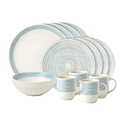 Polar Blue Dots 16-Piece Set - ELLEN DEGENERES COLLECTION CRAFTED BY ROYAL DOULTON