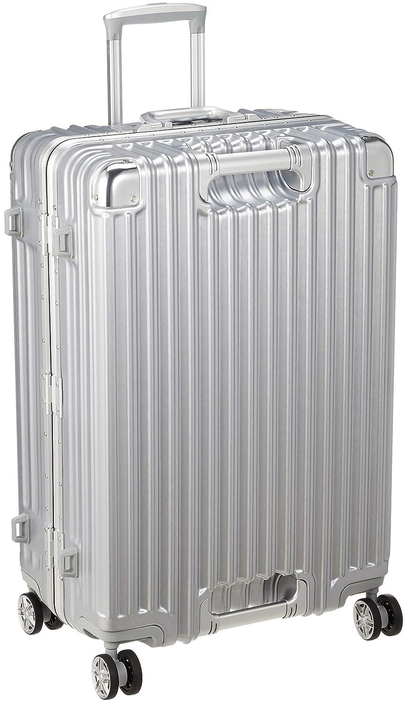 [シフレ] ハードフレームスーツケース 大型 Lサイズ 1年保証付き GripMaster グリップマスター TRIDENT トライデント 不可 保証付 85L 67 cm 5.9kg B07G7C31RJ アルミシルバー