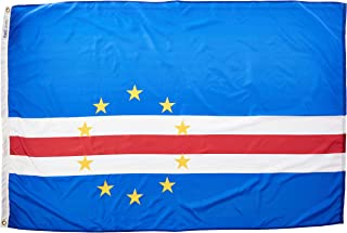 product image for Annin Flagmakers Model 191436 Cape Verde Flag Nylon SolarGuard NYL-Glo, 4x6 ft, 100% Made in USA to Official United Nations Design Specifications