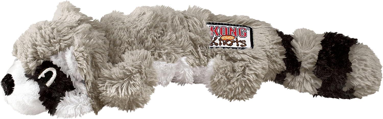 KONG - Scrunch Knots Raccoon - Juguete con Cuerdas internas antirrotura - para Perros de Raza Pequeña/Mediana