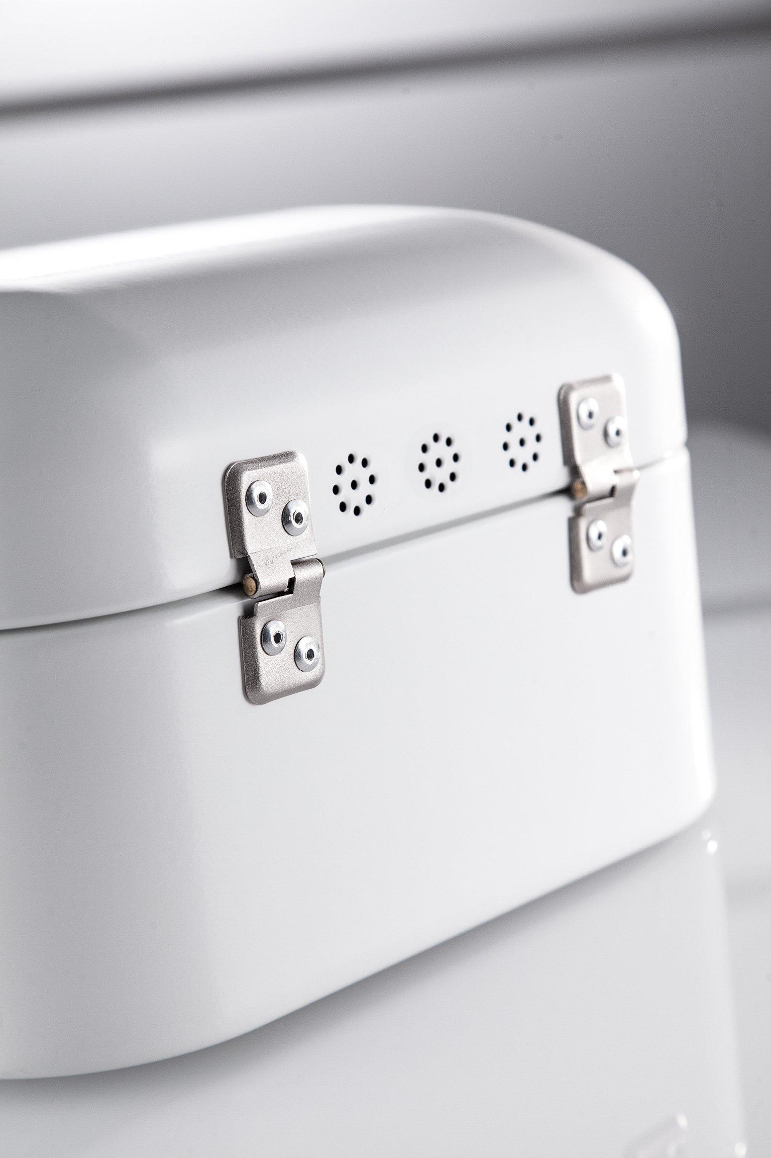 Wesco Single Grandy – German Designed - Steel bread box for kitchen / storage container, White