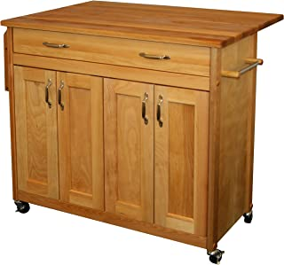 product image for Catskill Craftsmen Mid-Sized Island with Flat Panel Doors and Drop Leaf
