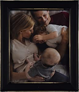 Fetco Home Dcor Longwood Rustic Black 8x10 Picture Frame