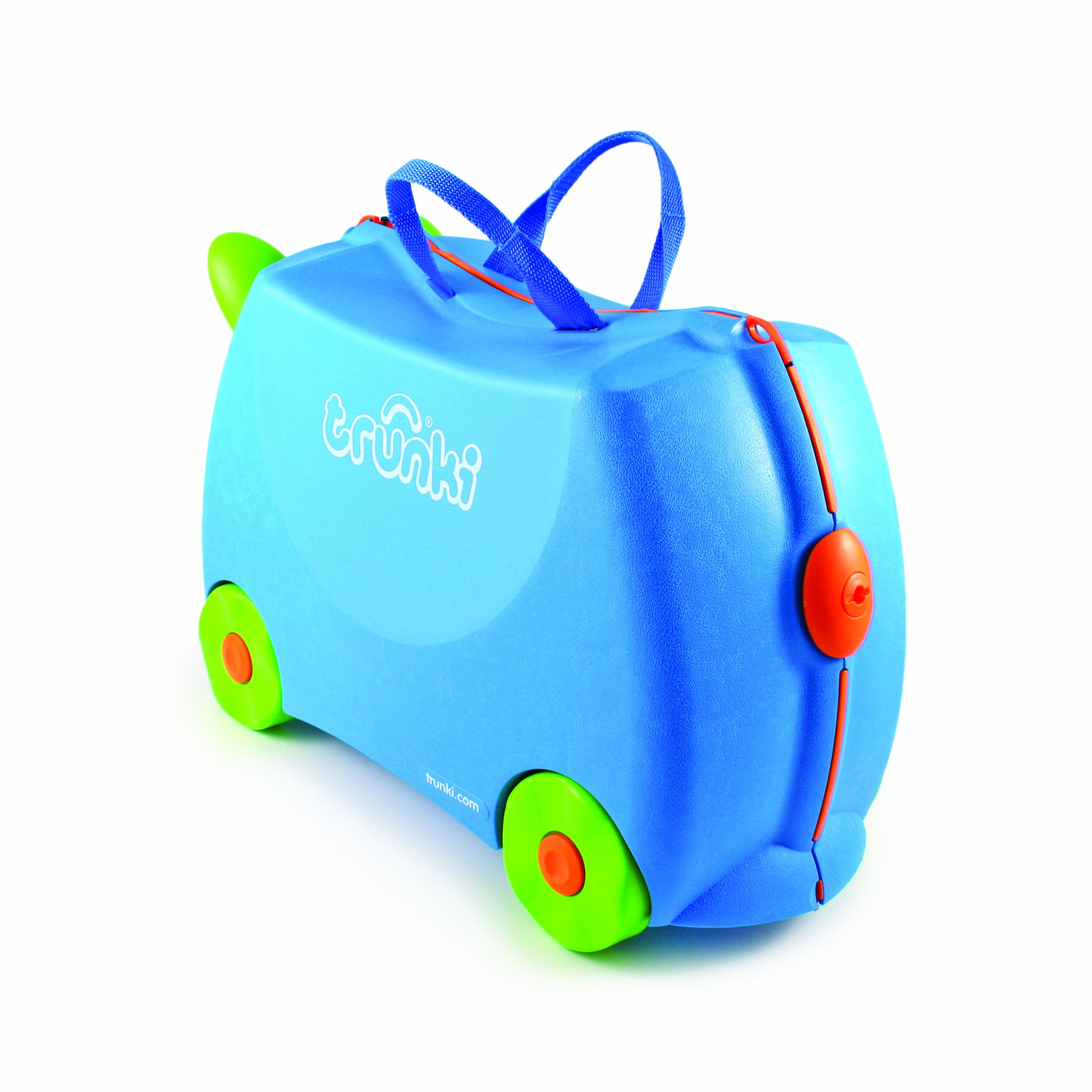 Trunki Original Kids Ride-On Suitcase and Carry-On Luggage - Terrance (Blue) by Trunki (Image #9)