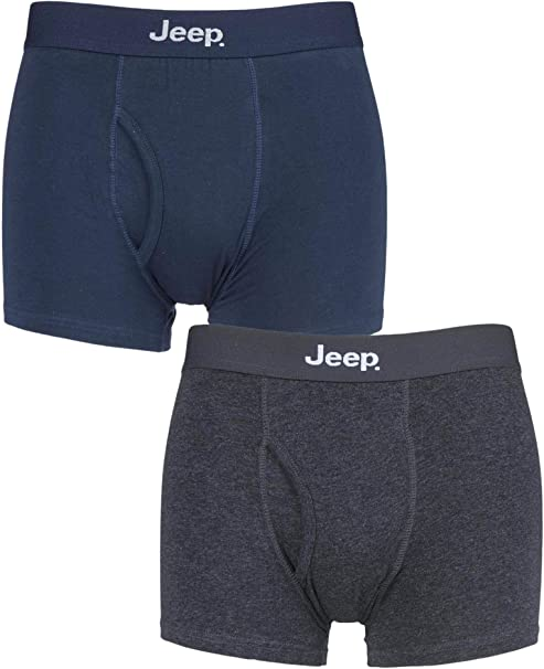 Jeep Mens 2 Pack Fitted Seamless Trunks
