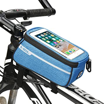 Details about  /WEST BIKING Bicycle Bag Bike Frame Front Handlebar Touch Screen Phone Case