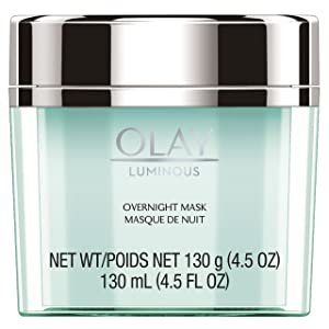Olay Regenerist Luminous Overnight Facial Mask Gel Moisturizer with Vitamin C & E, 4.5 OuncePackaging may Vary