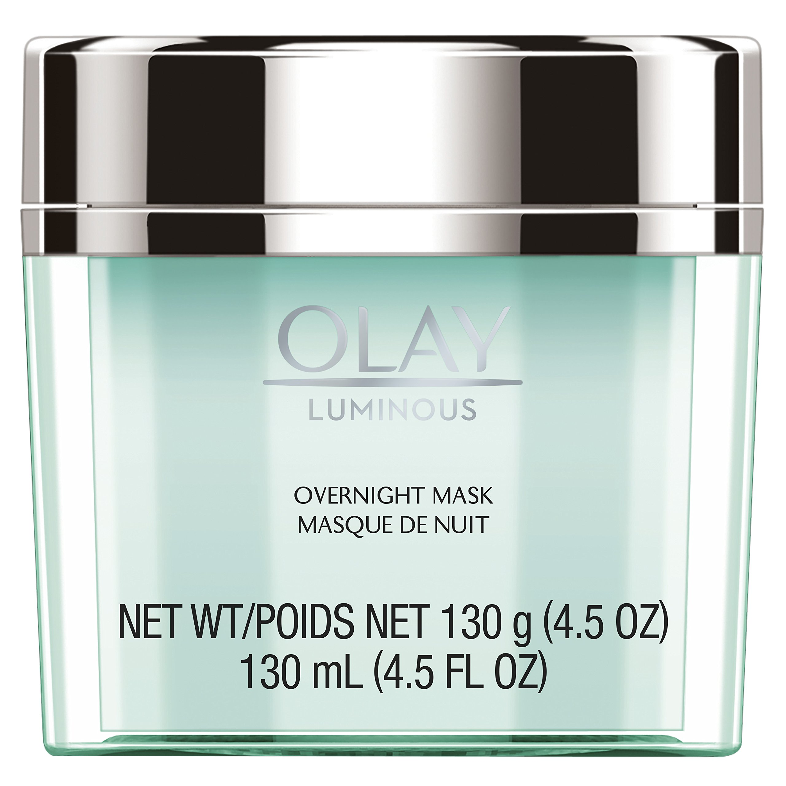 Face Mask Gel by Olay Luminous, Overnight Facial Moisturizer for Brighter Skin, 4.5 Ounce (Packaging May Vary)