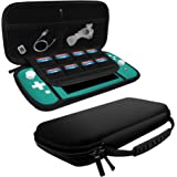 amCase Nintendo Switch Lite Carrying Case (Black) - Protective Hard Shell Portable Travel Carry Case for Nintendo Switch Lite Console and Accessories (2019)