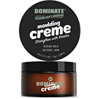 Dominate Men's Hair Styling Molding Creme with Keratin, 75g