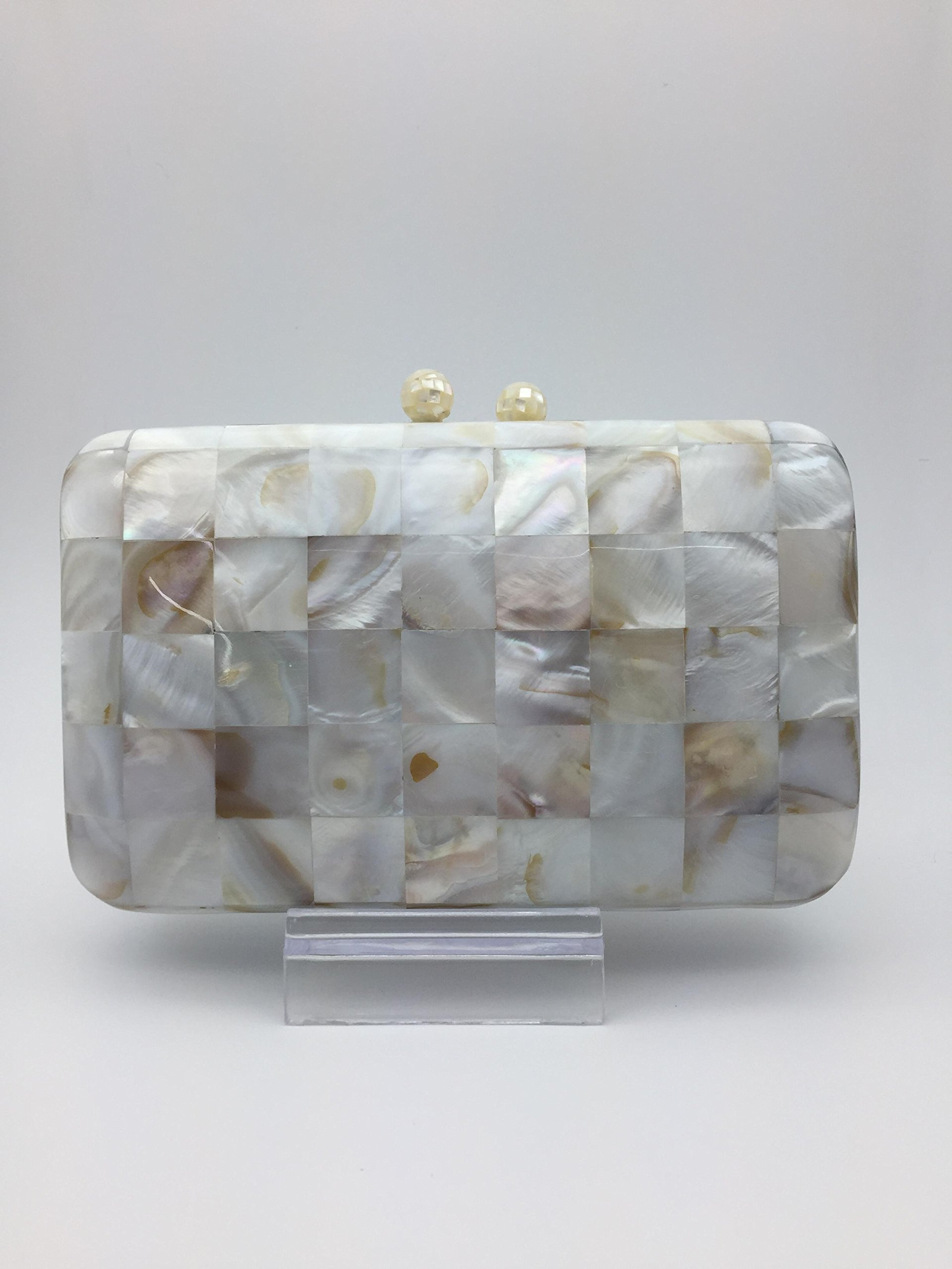 Clutch Handbag Mother of Pearl