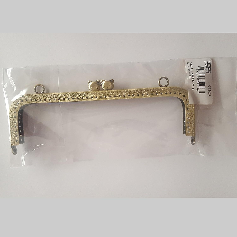 Boquilla monedero de 20x6.5 cm color oro viejo de gatos ...