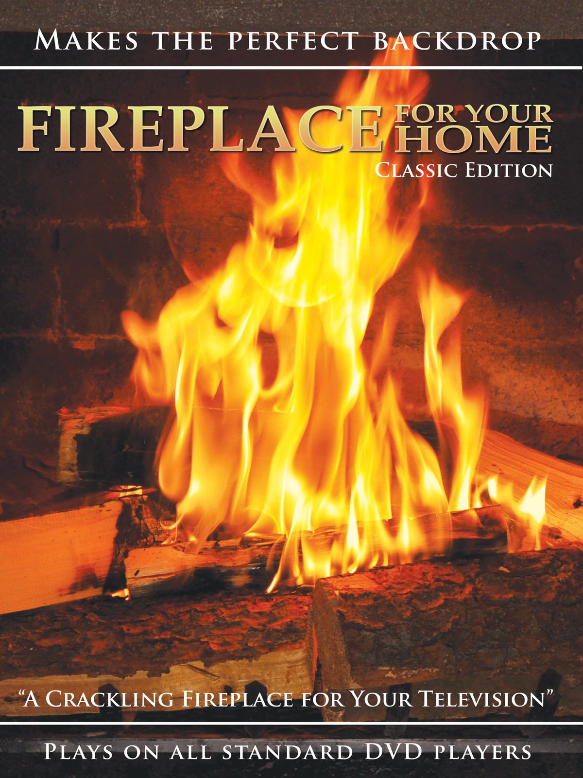 amazon com fireplace for your home presents crackling fireplace