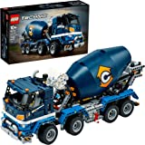 LEGO Technic Concrete Mixer Truck 42112 Building Kit, Kids Will Love Bringing The Construction Site to Life with This Cool Co