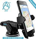 Able Long Neck One Tuch Mount Holder For All Smartphones (3rd Generation, Black)