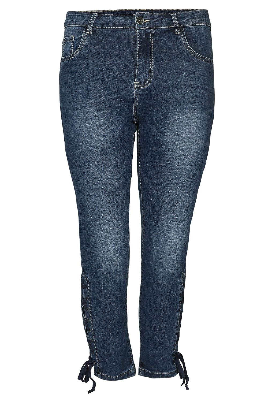 PAPRIKA Damen große Größen 34 Jeans mit Schnürung: Paprika