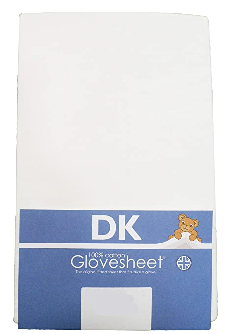 Travel Cot Fitted Sheet : 100% Combed Jersey Cotton Col WHITE To Fit Size  95 x 65 cm Mattress