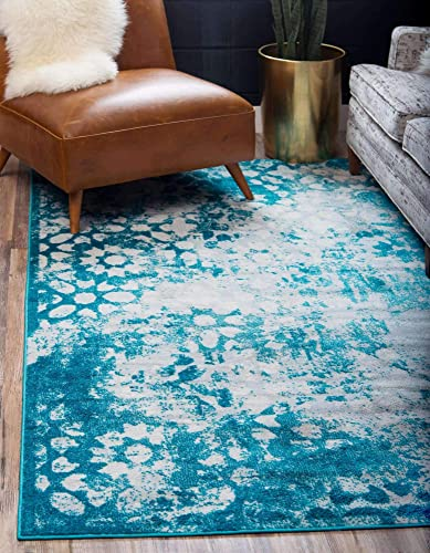 Unique Loom Sofia Traditional Area Rug, 9 0 x 12 0, Turquoise