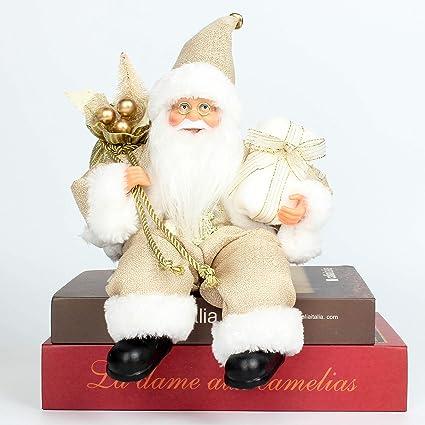 6da4f8700b379 Costyleen Christmas Santa Claus Figurine Decoration Medium Size Ornament  Enjoyable Gift Doll Toy Table Decor Festival