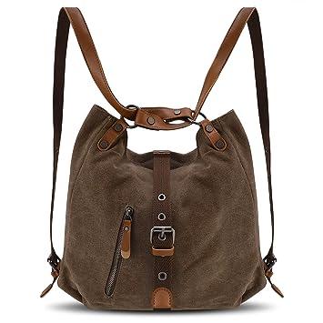 20a1c46a4d5d5 YANGYANJING Vintage Canvas Damen Schultertasche Handtasche