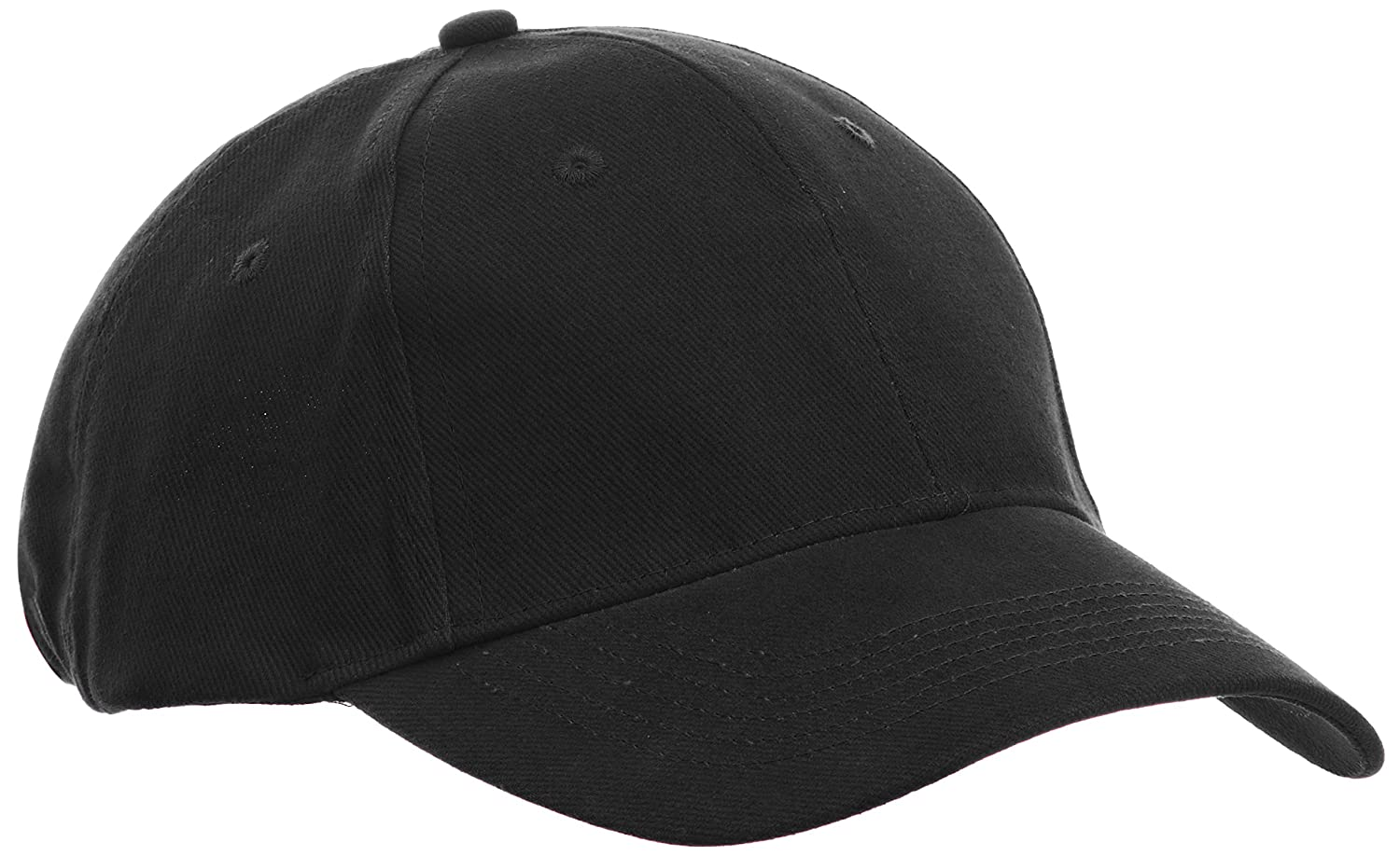 Amazon.com  Anvil Unisex Contrast Low Profile Twill Baseball Cap   Headwear  (One Size) (Black)  Sports   Outdoors a400cf77e44
