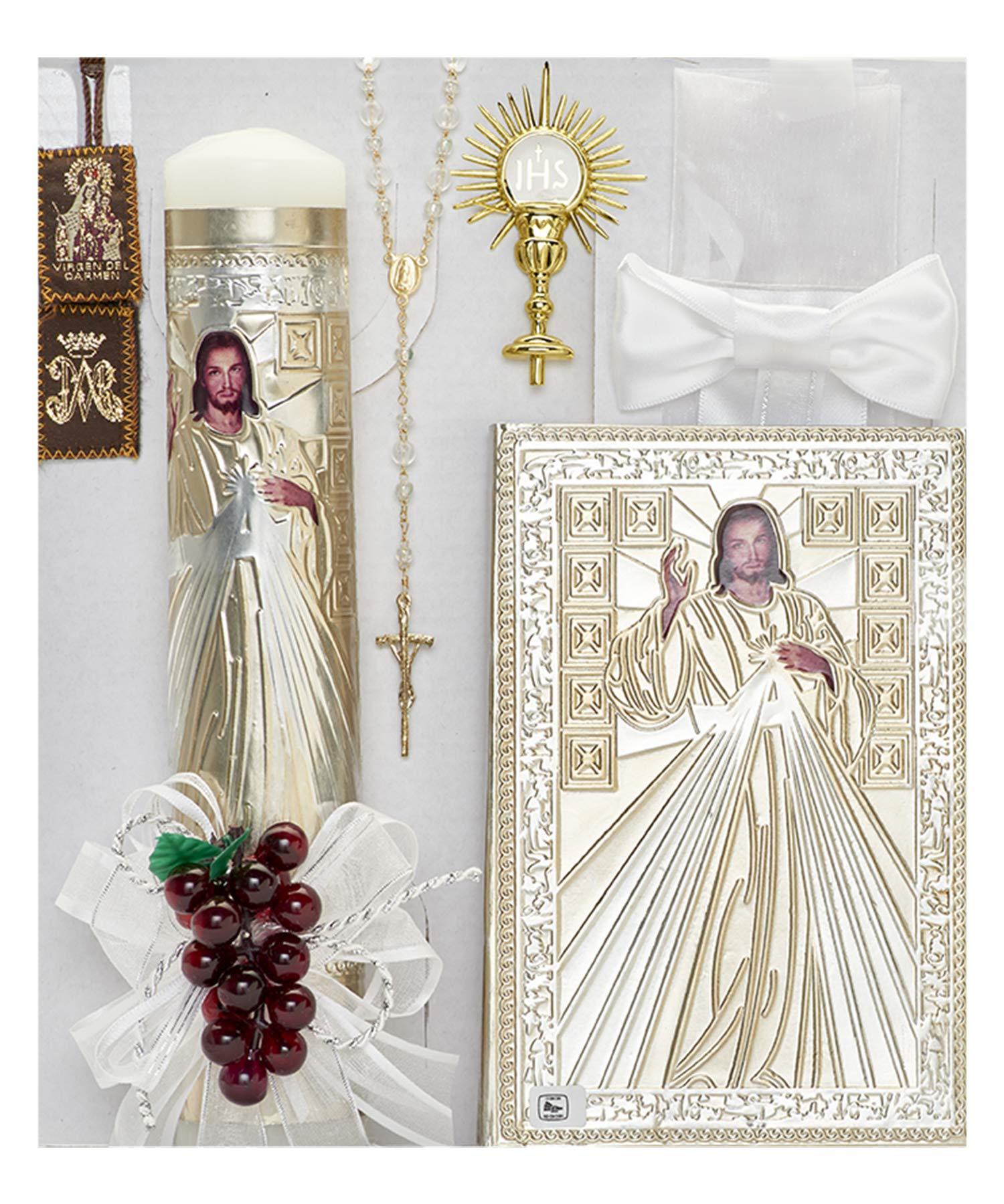 Cocochildren.com Mx-451C Mercy First Communion Candle Set