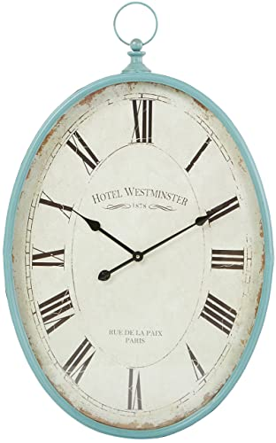 Aspire Sonia Oval Wall Clock, Blue