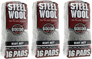 HOMAX GROUP Inc 4 Steel Wool Extra Coarse 16 Pads - 3 Pack (48 Pads)