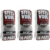 Homax Products 106607-06 - 3PACK 4 Steel Wool Extra Coarse 16 Pads - 3 Pack (48 Pads)