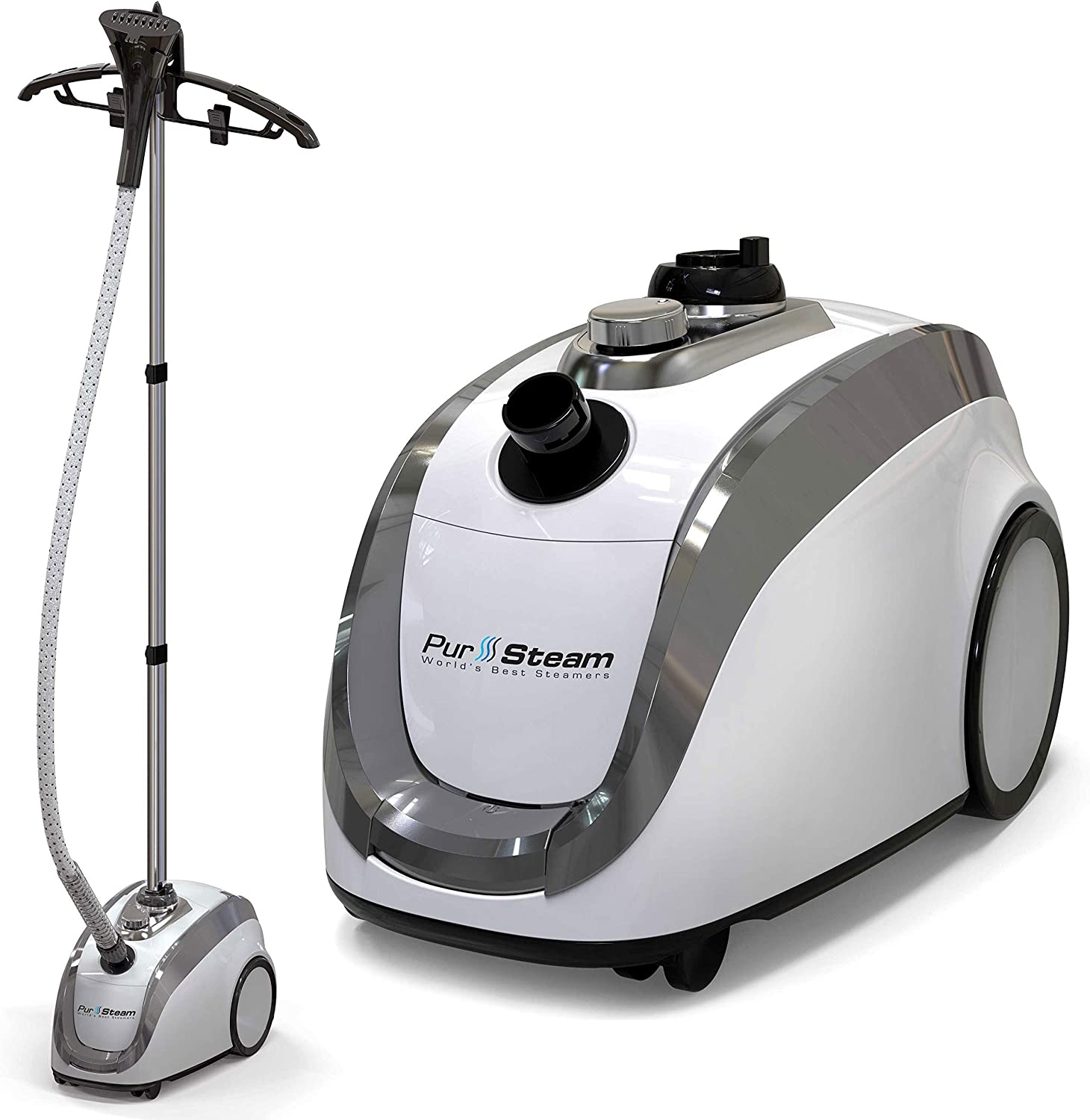 Amazon.com: PurSteam -2020 Official Partner of Fashion-Full Size Steamer  for Clothes, Garments, Fabric-Professional Heavy Duty - 4 Steam Levels,  Perfect Continuous Steam: Home & Kitchen