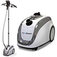 PurSteam -2020 Official Partner of Fashion-Full Size Steamer for Clothes, Garments, Fabric-Professional Heavy Duty - 4 Steam Levels, Perfect Continuous Steam, Perfect for sterilizing and disinfecting.