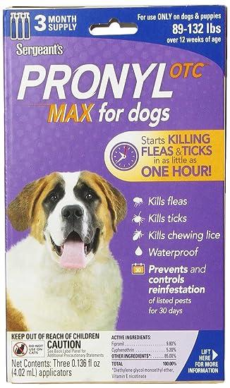 Amazon.com: Sargento de pronyl OTC Max perro pulgas y Tick ...