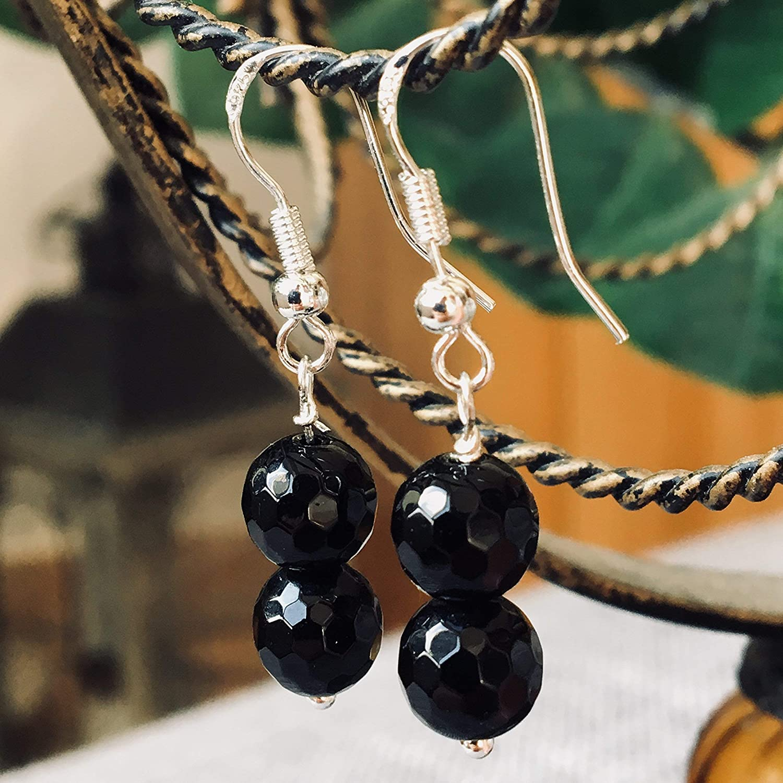 Ohrringe BLACK ONYX | Silber 925 | schwarz | Onyx Perlen
