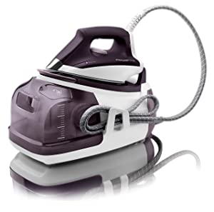 Rowenta Perfect 1800-Watt Eco Energy Station Steam Iron Purple
