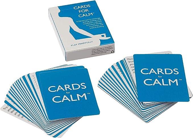 Cards for Calm. Una herramienta de terapia que utiliza CBT para combatir la ansiedad y el pensamiento negativo: Amazon.es: Juguetes y juegos