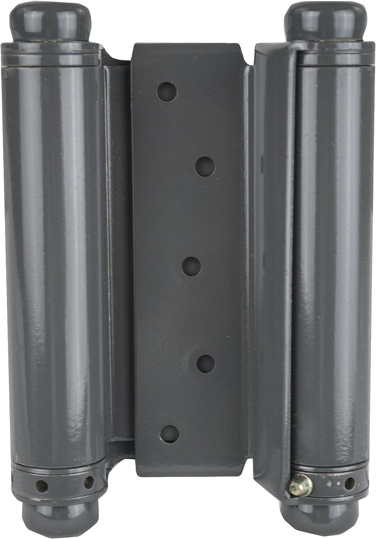 Set of 2 Global Door Controls DH-TAN5004-GV DH-Tan Series Trans Atlantic 4 Double Acting Spring Hinge in Galvanneal 4 Piece