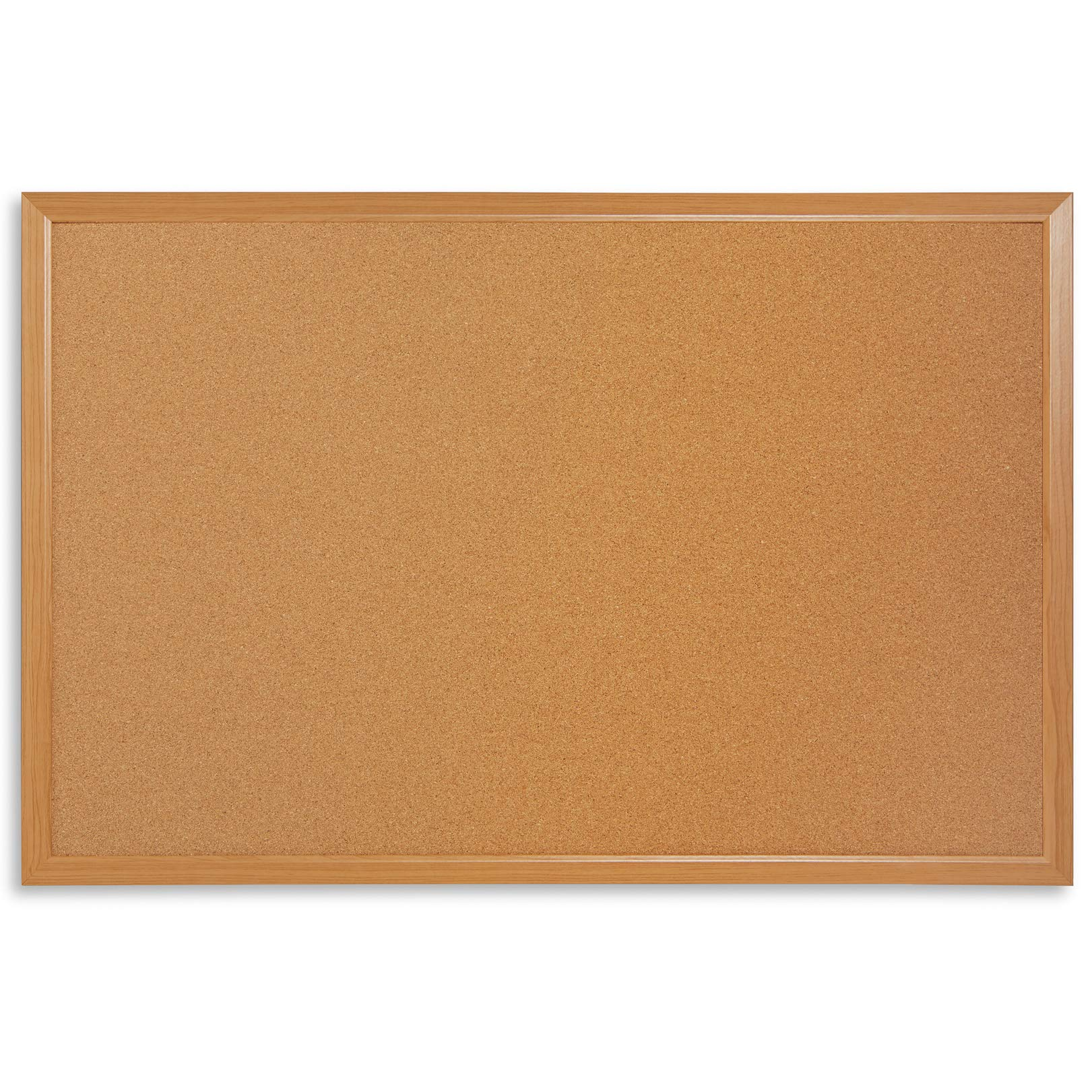 """Blue Summit Supplies 24"""" x 36"""" Corkboard with Natural Wood Frame, Bulletin Board with Included Push Pins for Office, Classroom, or Home, Mounting Hardware Included"""