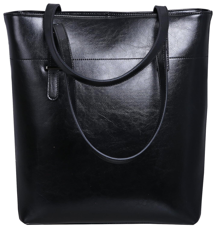 Amazon.com  Iswee Women Leather Satchel Shoulder Bag Large Tote Handbag  Designer Purse(Black)  Electronics a23157cb2f102