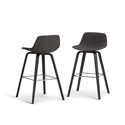 fffad2e529064 Image Unavailable. Image not available for. Color  Simpli Home AXCRAN30B-G  Randolph Mid Century Modern Bentwood Counter Height Stool (Set of
