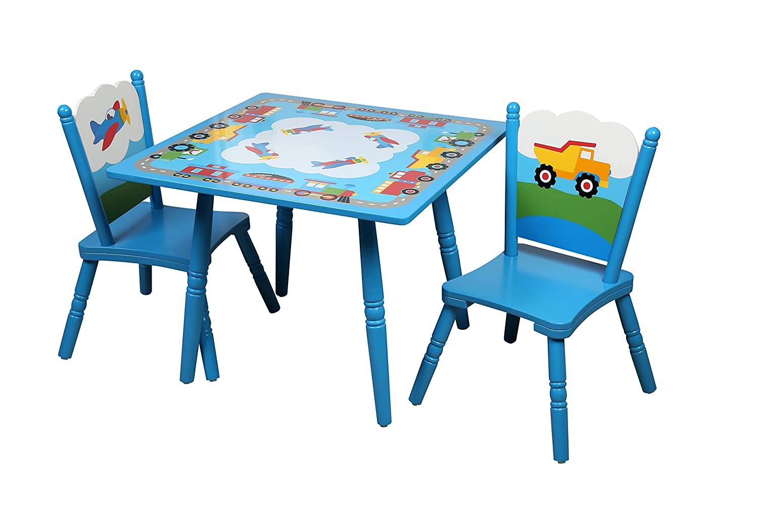 amazon com wildkin gettin around table 2 chair set toys games