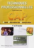 Techniques professionnelles CAP Agent Polyvalent de Restauration 1re et 2e année