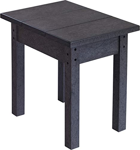 Recycled Plastic Small Side Table, Black, 17 L x 17 W x 17 H