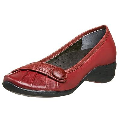 adde6d1c5d1a4 Hush Puppies Women's Sonnet Slip On, Dark Red, 8 W US: Buy Online at ...